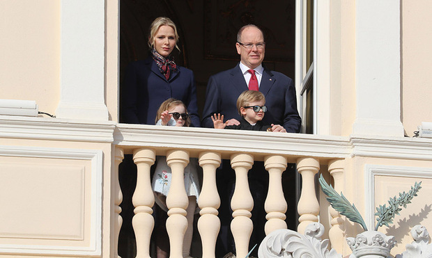 <h2>Prince Albert, Princess Charlene, Prince Jacques and Princess Gabriella</h2>