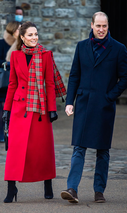 "Duchess Kate was festive at Cardiff Castle on Dec. 8 during her and Prince William's <a href=/tags/0/royal-train-tour><strong>royal train tour</strong></a> in a red <a href=""https://ca.hellomagazine.com/tags/0/alexander-mcqueen""><strong>Alexander McQueen</strong></a> coat. 