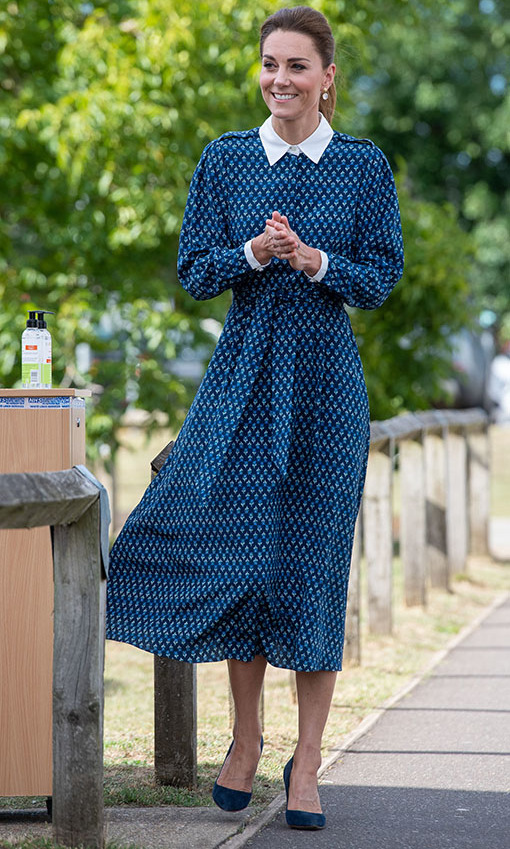 The Duchess of Cambridge visited the Queen Elizabeth Hospital in King's Lynn as part of the NHS 72nd birthday celebrations on July 5.