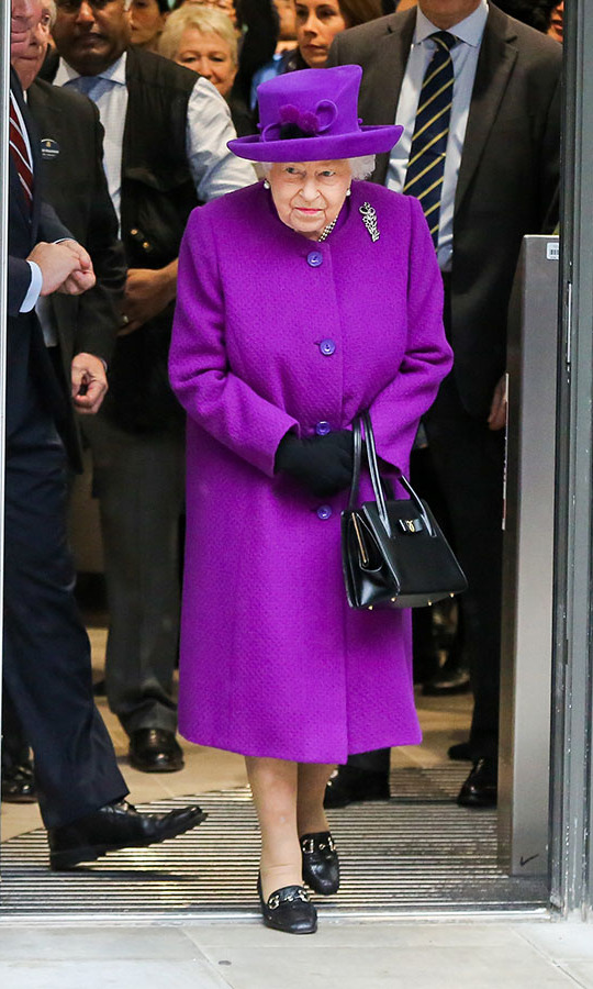 The Queen stunned in a vivid purple coat and matching hat during the official opening of the new Royal National ENT and Eastman Hospitals on Huntley Street in London on Feb. 19. <p>Photo: &copy; Dinendra Haria/Anadolu Agency via Getty Images