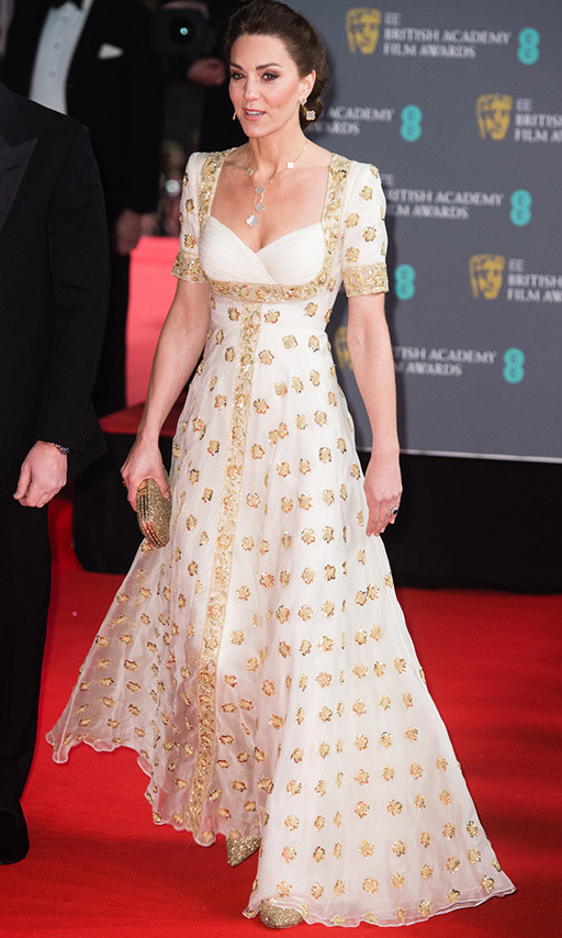 "Duchess Kate mesmerized at the <a href=""https://ca.hellomagazine.com/tags/0/2020-baftas""><strong>2020 BAFTAs</strong></a> on Feb. 2. She adhered to the suggestion of dressing sustainably by re-wearing a gold and white gown by <a href=/tags/0/alexander-mcqueen><strong>Alexander McQueen</strong></a> she last wore in 2012 on her and <strong><a href=""https://ca.hellomagazine.com/tags/0/prince-william"">Prince William</a></strong>'s royal tour of Malaysia. 