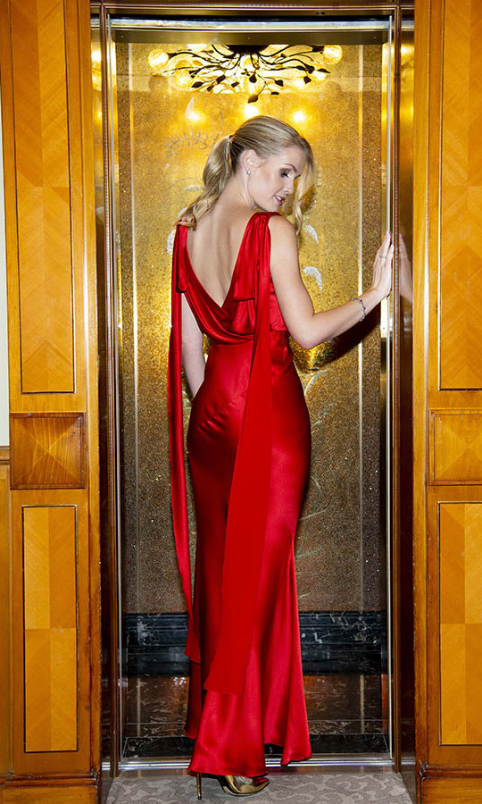 On Feb. 19, <a href=/tags/0/lady-kitty-spencer><strong>Lady Kitty Spencer</strong></a> oozed glamour in a slinky red gown with draped back at the <a href=/tags/0/alberta-ferretti><strong>Alberta Ferretti</strong></a> after-party following the fashion designer's show during Milan Fashion Week.<p>Photo: &copy; David M. Benett/Dave Benett/Getty Images