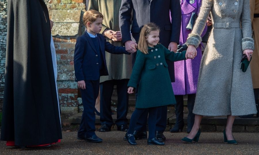<h2>No. 7: Prince George and Princess Charlotte's debuts at Christmas Day service, 2019</h2>