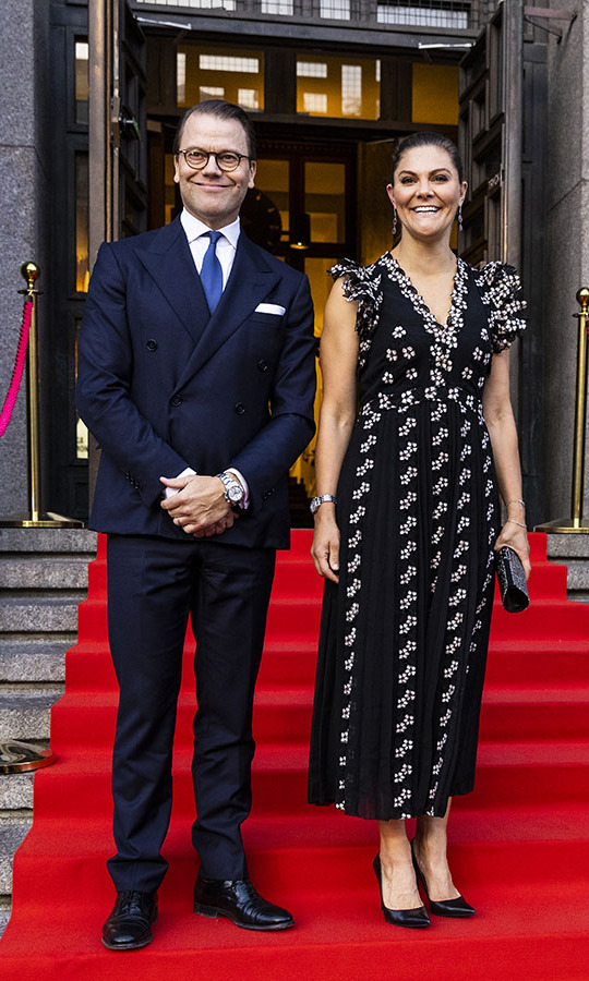 <a href=/tags/0/crown-princess-victoria><strong>Crown Princess Victoria</strong></a> and <a href=/tags/0/prince-daniel><strong>Prince Daniel</strong></a> were a dapper duo at the season opening of the Swedish Royal Philharmonic Orchestra at the Stockholm Concert Hall on Sept. 17.