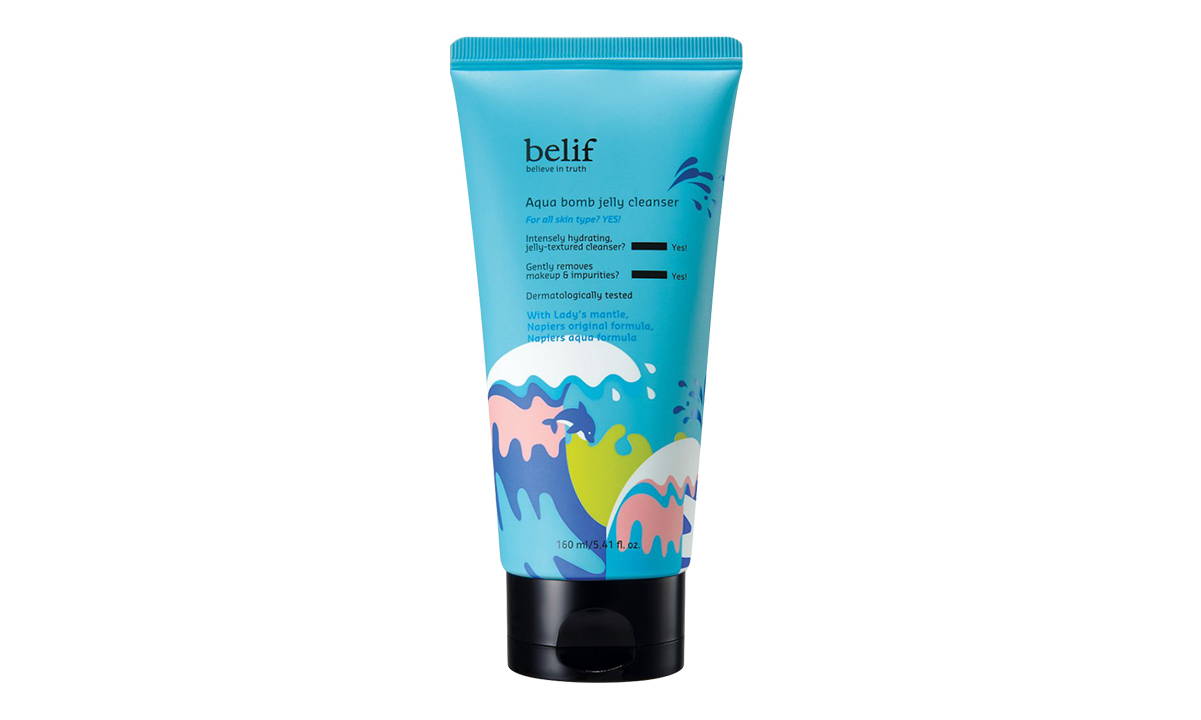 Gel cleansers have gotten a bad rap for being drying, but let the Aqua Bomb Jelly Cleanser change your mind. This gentle jelly-to-foam cleanser takes after belif's ultra-hydrating line of moisturizers, removing all traces of makeup and dirt without stripping your skin of the natural oils that keep it supple and youthful. 