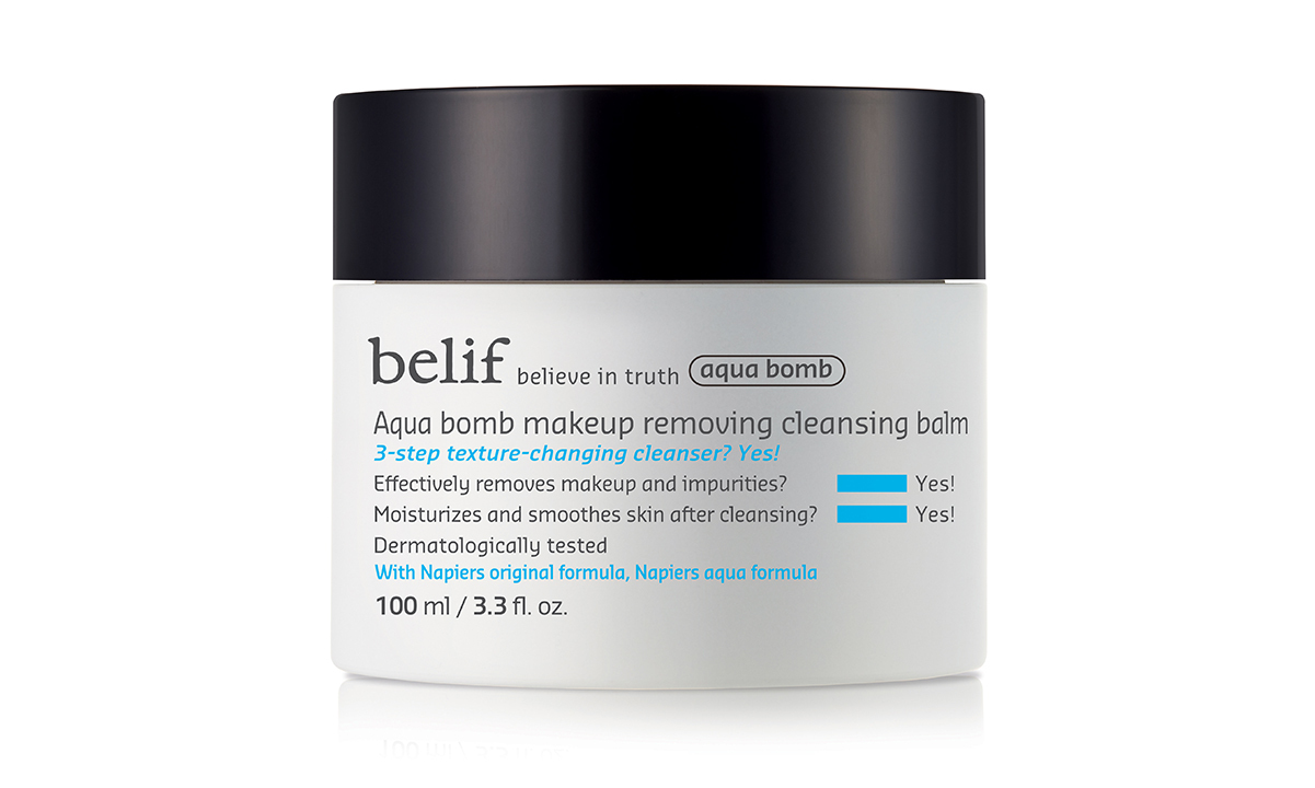 Take off your makeup and replenish your skin's natural moisturize and oils with the Aqua Bomb Makeup Removing Cleansing Balm. The two-in-one cleanser removes dirt and makeup, protects your skin and minimizes pores without leaving your face feeling tight, dry and stripped of hydration. 