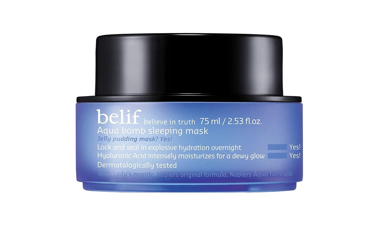 Take care of your skin while you're getting your beauty sleep. The Aqua Bomb Sleeping Mask has all the benefits of an ultra-moisturizing cream without any sticky residue or transfer. 