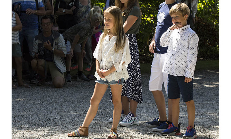 Prince Vincent and Princess Josephine enjoyed the traditional Tilting-At-The-Ring Riders event at Graasten Castle on July 15, 2018.