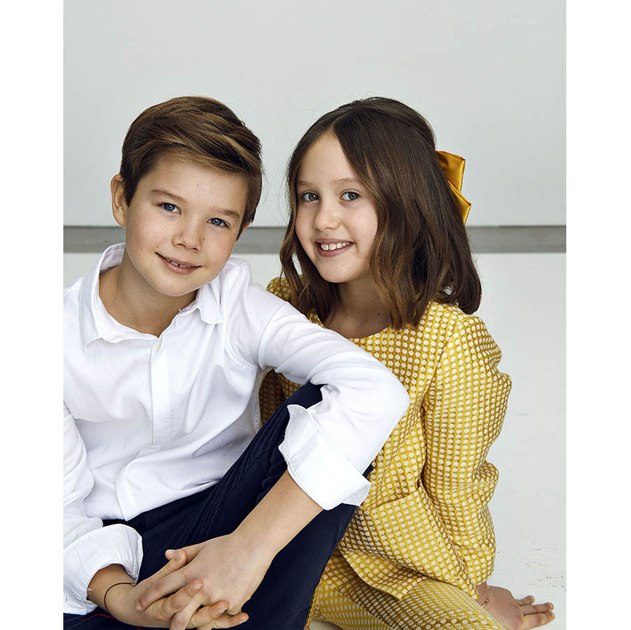 Happy 10th birthday! The twins looked so grown up as they celebrated turning double digits on Jan. 8, 2021 in their newly released portrait.