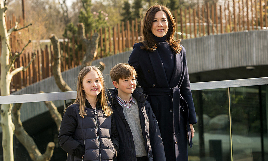 Crown Princess Mary and her twins enjoyed a morning walk in Copenhagen Zoo as the zoo opened its new panda facility to the public on April 11, 2019.