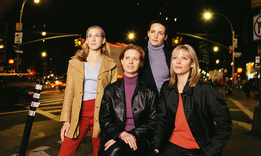 The actresses demonstrated how each of their characters wore jackets in a portrait taken for the HBO show in March 2001.