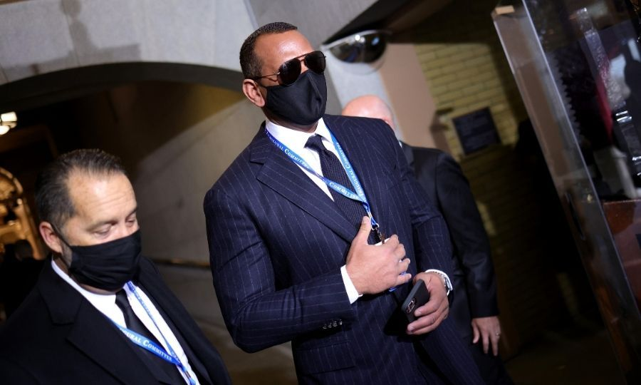 <Strong><a href=/tags/0/alex-rodriguez>Alex Rodriguez</a></strong> arrived separately from <strong><a href=/tags/0/jennifer-lopez>Jennifer Lopez</a></strong>, who was tapped to perform at the event.