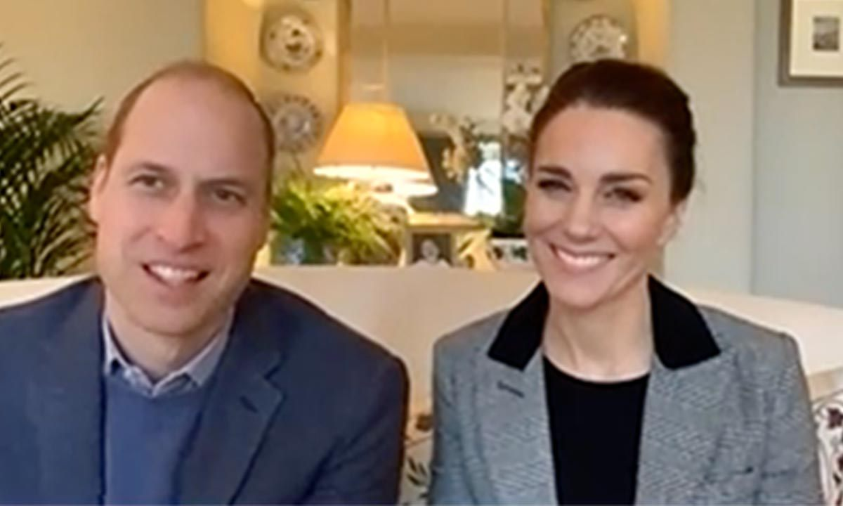 <a href=/tags/0/prince-william><strong>Prince William</strong></a> and <a href=/tags/0/kate-middleton><strong>Duchess Kate</strong></a> coordinated at their first royal engagement on 2021 in the week of Jan. 10 for a video call with front-line workers about Hospice UK's Just 'B' counselling and bereavement support line. 