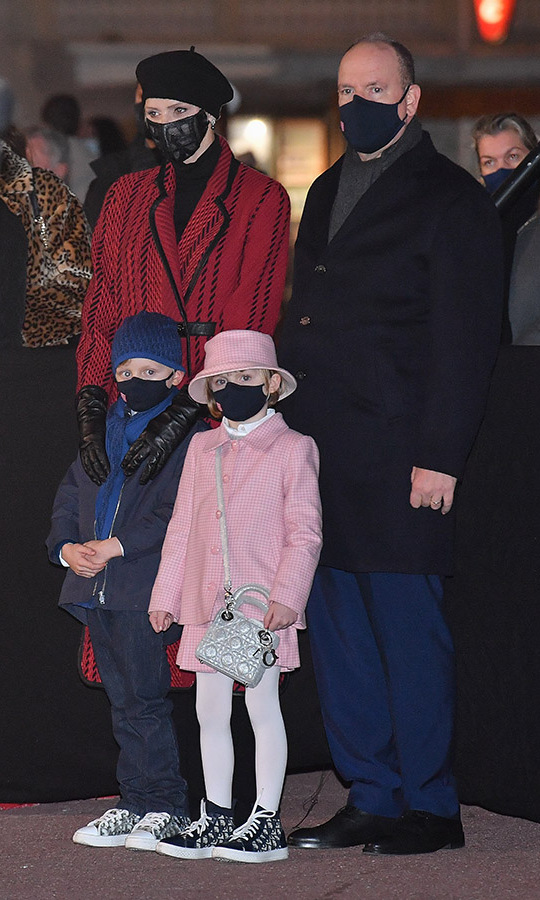 "<strong><a href=""/tags/0/princess-charlene"">Princess Charlene</a></strong> and <strong><a href=""/tags/0/prince-albert"">Prince Albert</a></strong>, along with their six-year-old twins, <strong><a href=""/tags/0/princess-gabriella"">Princess Gabriella</a></strong> and <strong><a href=""/tags/0/prince-jacques"">Prince Jacques</a></strong> were a stylish family at a Saint-Devote ceremony on Jan. 26 in Monaco.
