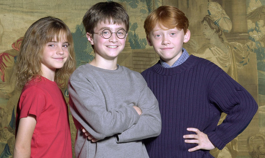 Emma Watson, Daniel Radcliffe and Rupert Grint after they were announced as the cast of the 'Harry Potter' films on Aug. 21, 2000. Photo: © Warner Bros./Newsmakers