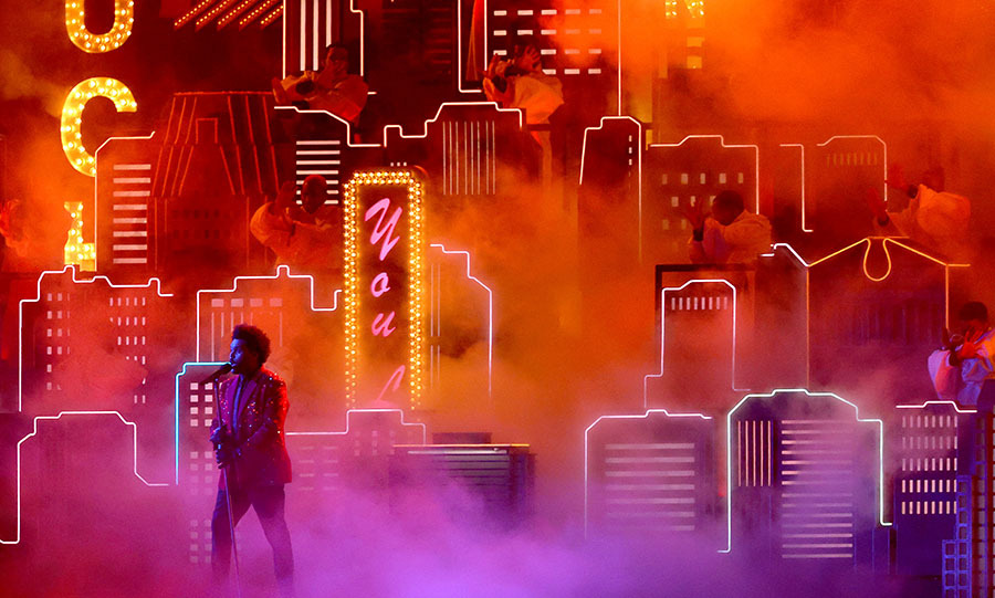 The Weeknd brought the Sin City theme to the Super Bowl! 