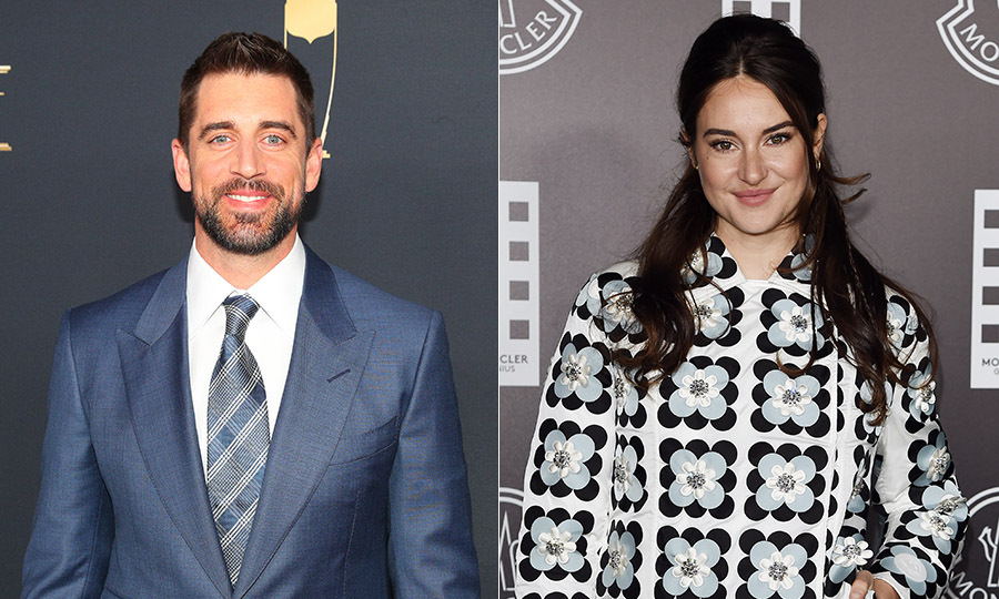 <h2>Aaron Rodgers and Shailene Woodley</h2>