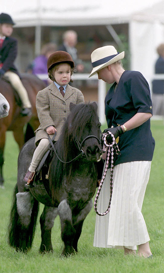 The young royal seemed a bit uncertain about her ride at The Royal Windsor Horse Show!