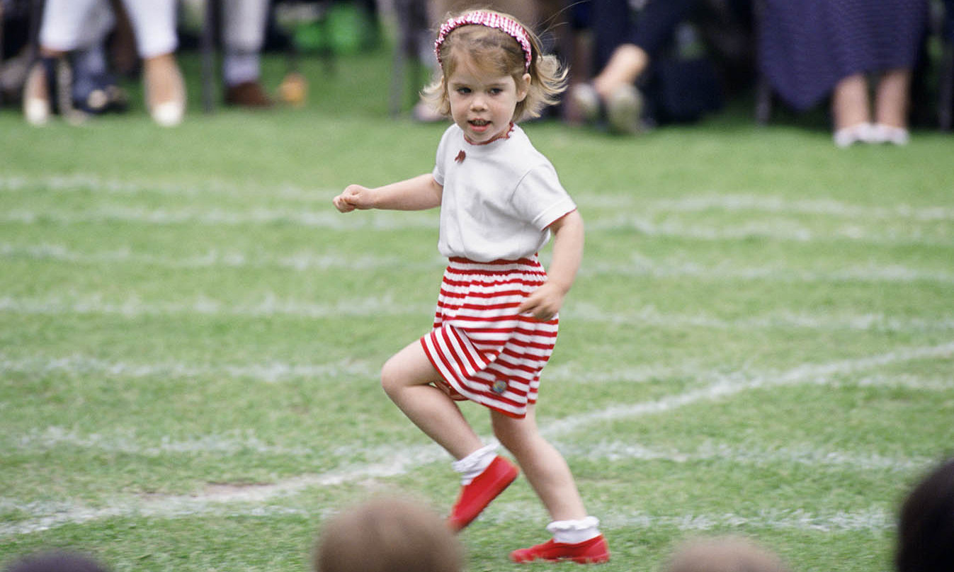 Princess Eugenie had a ball at The Upton House School Sports Day in June 1993.