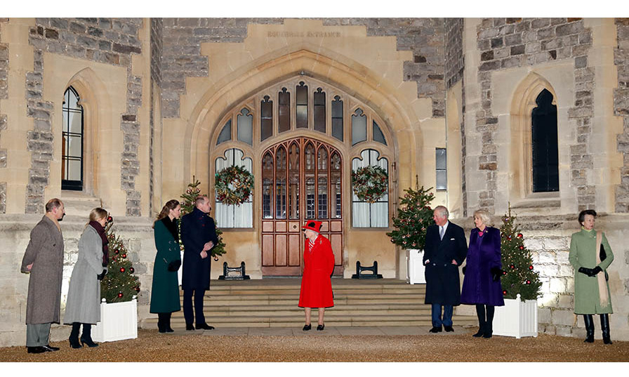 Prince Charles and Duchess Camilla reunited with (L-R) Prince Edward, Sophie, Countess of Wessex, Duchess Kate, Prince William, the Queen and Princess Anne at an event to thank local volunteers and key workers at Windsor Castle on Dec. 8, 2020. It was one of their last appearances of the year. Photo: © Max Mumby/Indigo - Pool/Getty Images