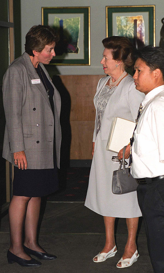 <a href=/tags/0/princess-margaret><strong>Princess Margaret</strong></a> was seen the day after the baby boy's birth visiting her new grandson and daughter Sarah.