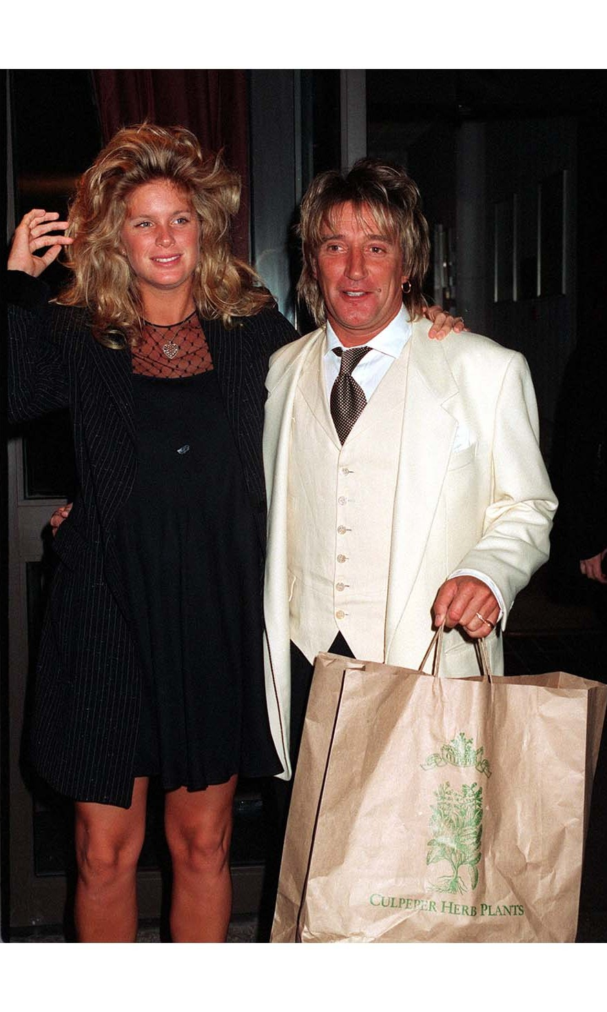 <h2>Rod Stewart and Rachel Hunter</h2>