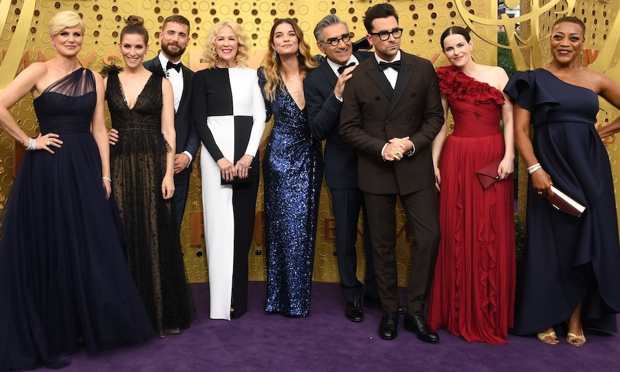 The <i>Schitt's Creek</i> cast at the 2019 Emmy Awards. Photo: &copy; Getty Images