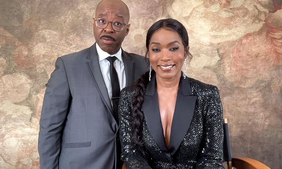 <strong>Courtney B. Vance</strong> and wife <a href=/tags/0/angela-bassett><strong>Angela Bassett</strong></a> coordinated in elegant shades of black.