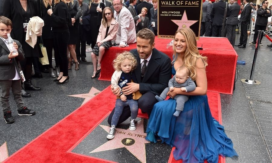 Ryan and Blake with James and Inez at Ryan's Hollywood Walk of Fame star ceremony in 2016. Photo: © Axelle/Bauer-Griffin/FilmMagic