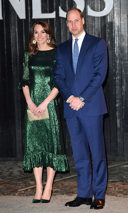 That evening, the couple looked so glamorous as they visited the Guinness Storehouse's famous Gravity Bar in Dublin.