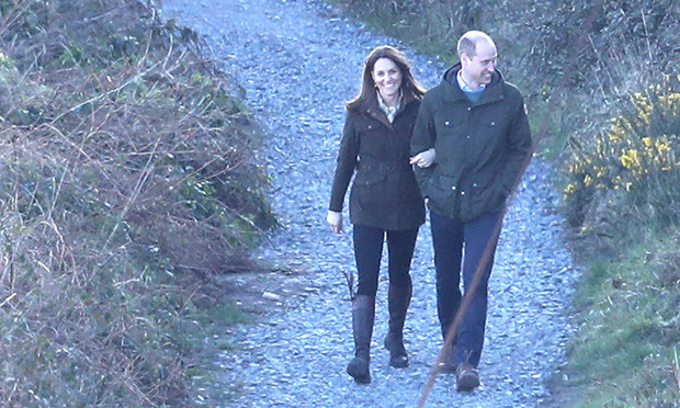 The Duke and Duchess of Cambridge took in the beauty of Ireland during a picturesque walk in Howth, a suburb of Dublin.