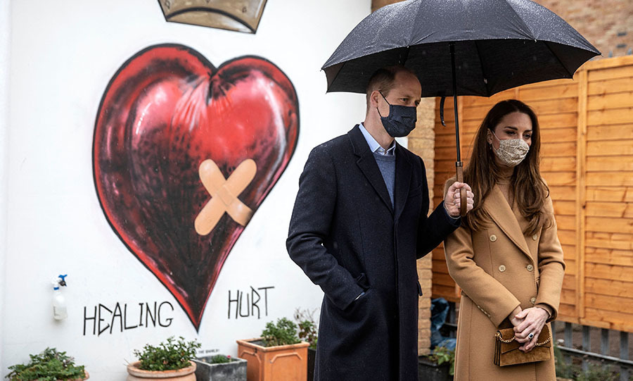 William and Kate spoke with members of the Newham Ambulance Station in the wellbeing garden. 