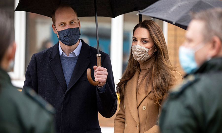 The Cambridges listened intently as the paramedics, ambulance staff and front-line workers recounted their experiences with COVID-19, including sometimes being isolated from their families.