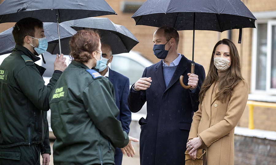 There also appeared to be more lighthearted moments in the duke and duchess's conversations with ambulance staff and paramedics.