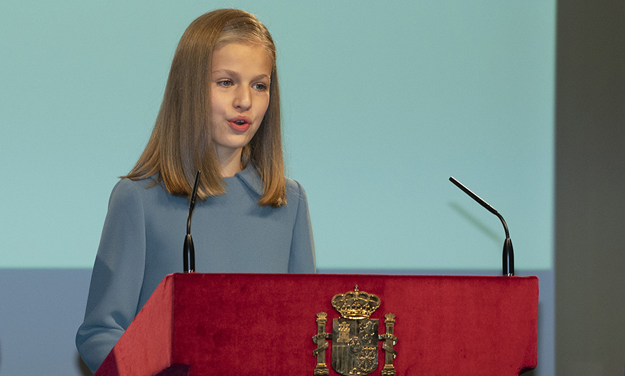 Princess Leonor of Spain looked so poised as she delivered her first speech for the 40th anniversary of the Spanish Consitution on Oct. 31, 2018. Photo: © Oscar Gonzalez/NurPhoto via Getty Images