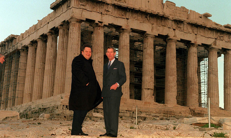 Charles met the then-Greek Culture Minister <strong>Evangelos Venizelos</strong> at the Parthenon during a visit to the Acropolis as part of the royal's three-day tour of Greece and Crete in November 1998.