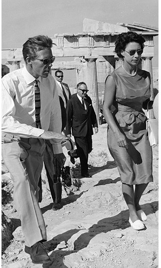 <a href=/tags/0/princess-margaret><strong>Princess Margaret</strong></a> and her husband at the time, <a href=/tags/0/lord-snowdon><strong>Lord Snowdon</strong></a>, enjoyed a holiday visit to the Acropolis in Athens in September 1963.