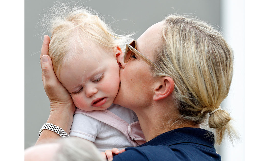 And Lena got a smooch from mom the same day!