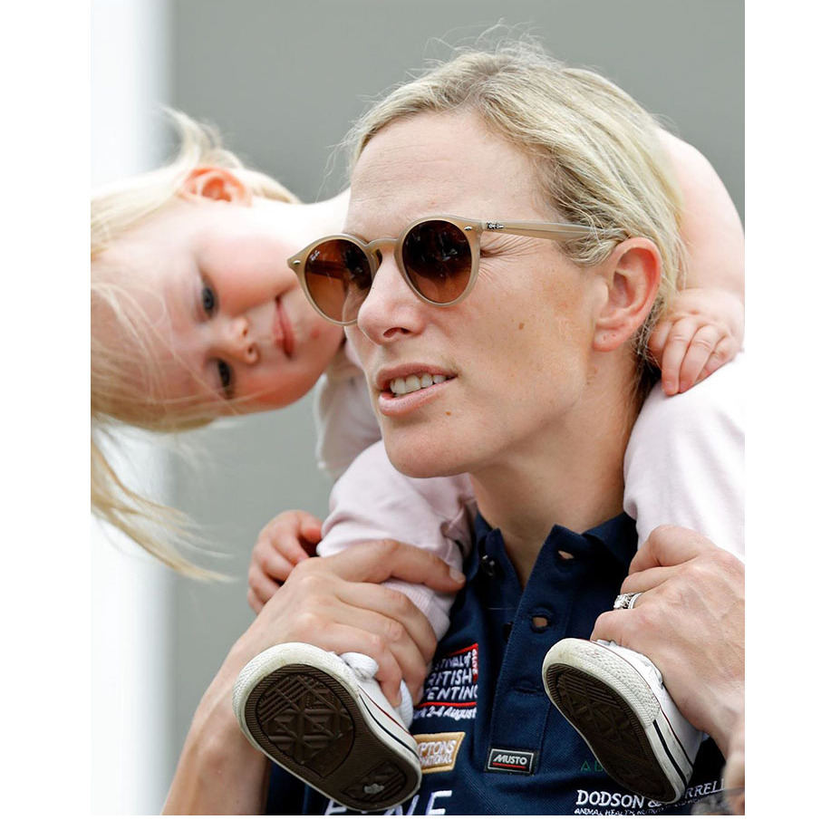 Lena was fascinated with mom Zara at the Festival of British Eventing in 2019. What do you think captured the little one's attention?