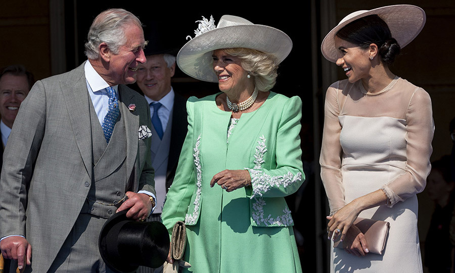 <a href=/tags/0/camilla-parker-bowles><strong>Duchess Camilla</strong></a> and <a href=/tags/0/meghan-markle><strong>Duchess Meghan</strong></a> wowed in soft shades during the 70th birthday patronage celebrations for <a href=/tags/0/prince-charles><strong>Prince Charles</strong></a> in May 2018.