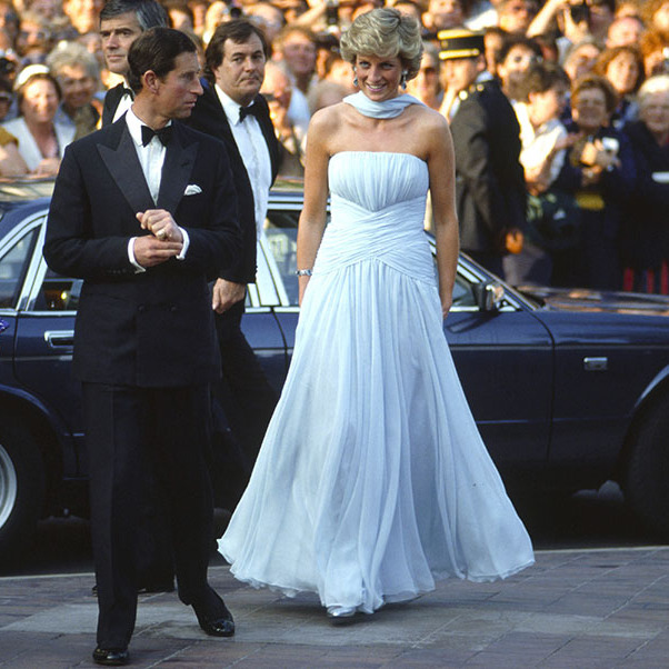 All eyes were on Princess Diana at the 1987 <a href=/tags/0/cannes-film-festival><strong>Cannes Film Festival</strong></a> as she graced the red carpet in a baby blue gown courtesy of <a href=/tags/0/catherine-walker><strong>Catherine Walker</strong></a>.