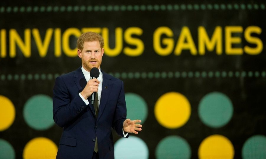 Prince Harry speaks during the opening ceremony of the Invictus Games in Toronto in 2017. Photo: © GEOFF ROBINS/AFP via Getty Images