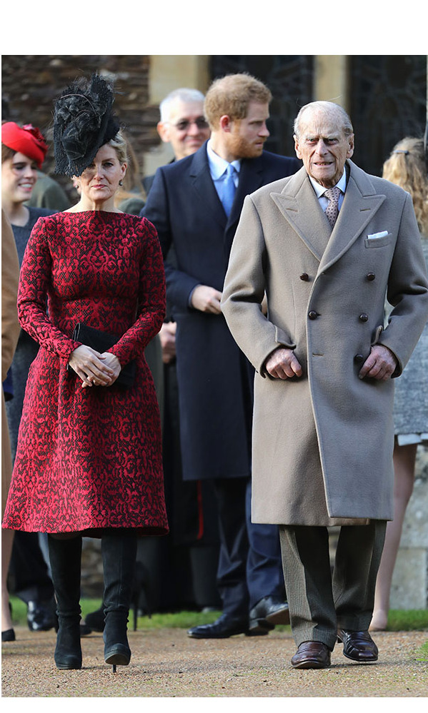 The Duke of Edinburgh was rarely without a slightly oversized tailored coat in the cooler months.