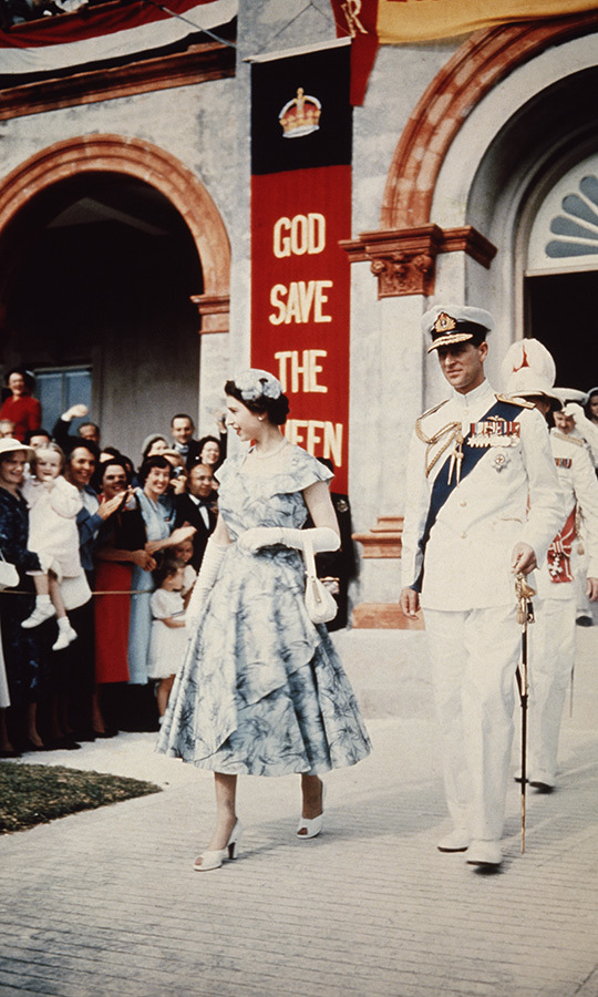 During the Queen and Prince Philip's Commonwealth tour, they wowed in Bermuda in November 1953. 