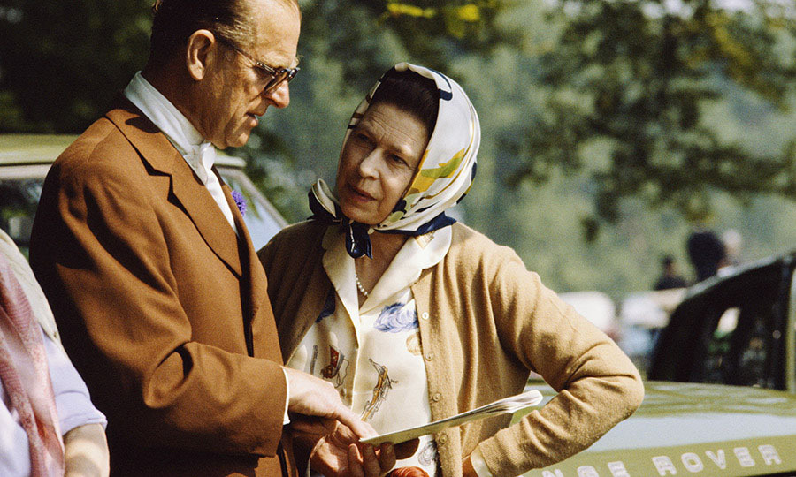 The couple coordinated in shades of beige at the Royal Windsor Horse Show at Windsor Castle in 1982.