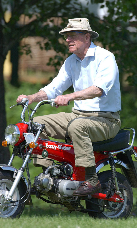 The Duke of Edinburgh even rode his motor bike in high style! 