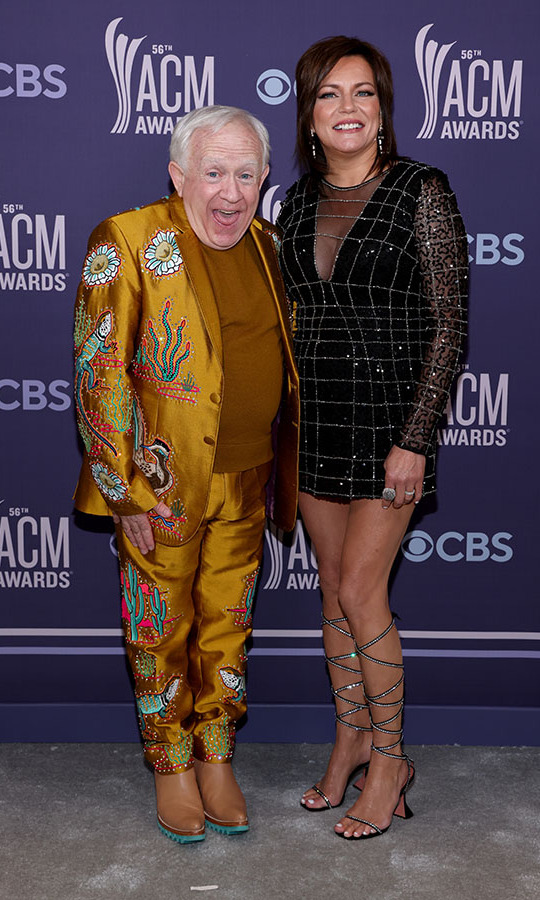 Legends <strong>Leslie Jordan</strong> and <a href=/tags/0/Martina-McBride><strong>Martina McBride</strong></a> smiled wide in their head-turning ensembles.