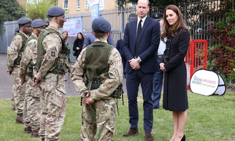 The couple also met cadets taking part in field craft exercises and leadership tasks, along with young people preparing for the Duke of Edinburgh Awards.