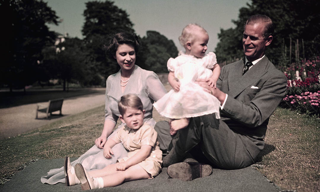 Three-year-old <a href=/tags/0/princess-anne><strong>Princess Anne</strong></a> got a lift up from dad <a href=/tags/0/prince-philip><strong>Prince Philip</strong></a> during a picnic at Balmoral with <a href=/tags/0/queen-elizabeth-ii><strong>the Queen</strong></a> and big brother <a href=/tags/0/prince-charles><strong>Prince Charles</strong></a> in 1953.