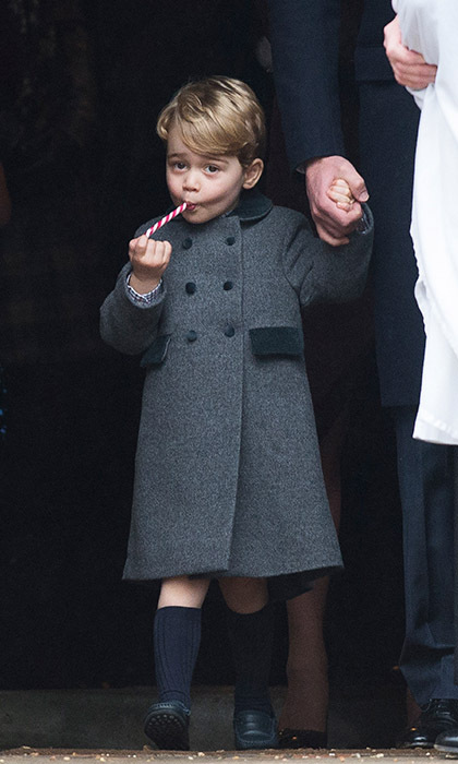 Who could forget <a href=/tags/0/prince-george><strong>Prince George</strong></a> enjoying his candy cane as he attended <a href=/tags/0/christmas><strong>Christmas</strong></a> Day church service in Bucklebury? 